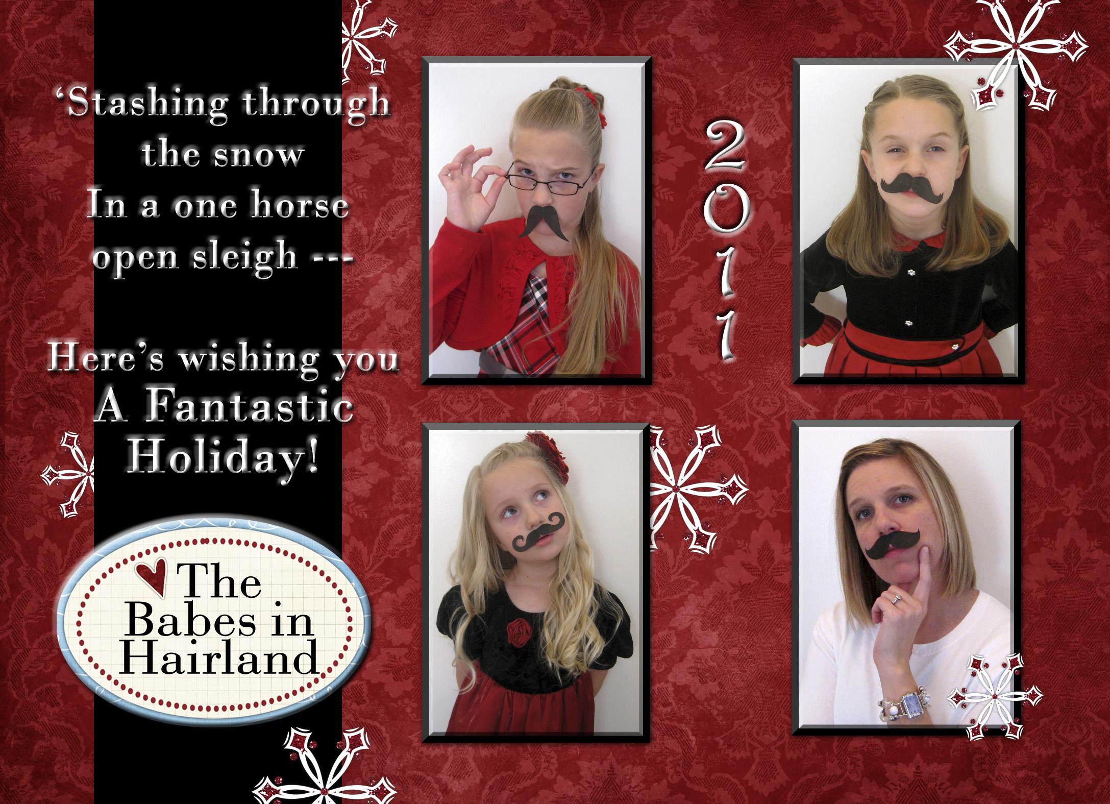 2011 Mustache Christmas Card (1)