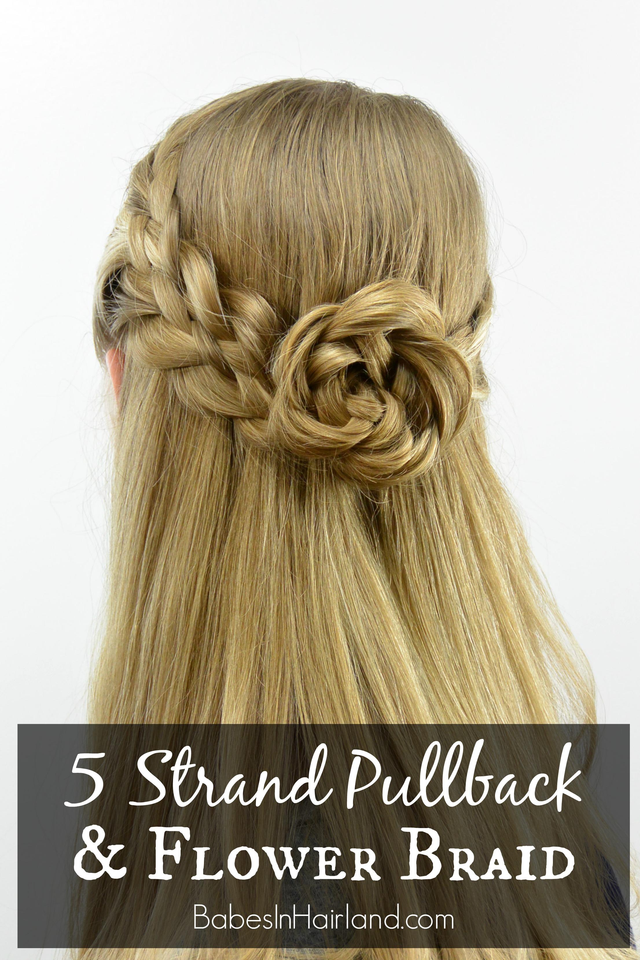 Peachy 5 Strand Pullback Amp Flower Braid Rosette Babes In Hairland Short Hairstyles Gunalazisus