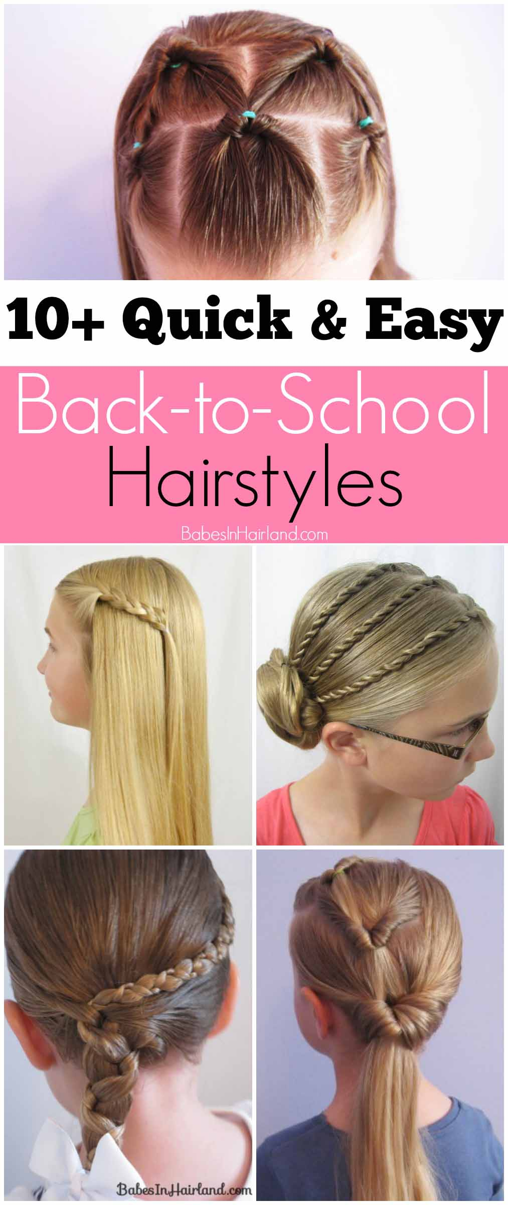 Peachy 10 Quick And Easy Back To School Hairstyles Babes In Hairland Short Hairstyles Gunalazisus