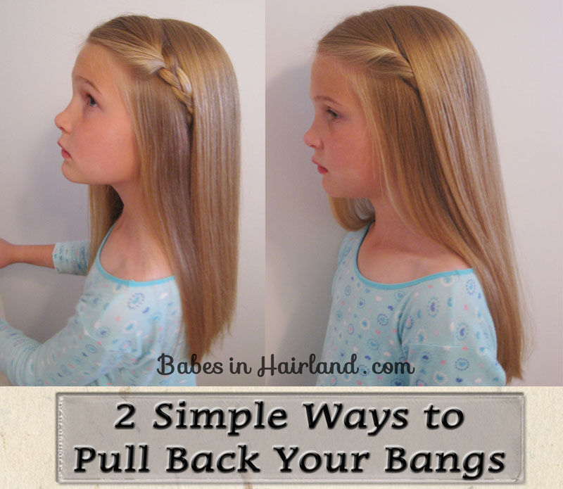 12 Ways To Pull Back Your Bangs Babes In Hairland