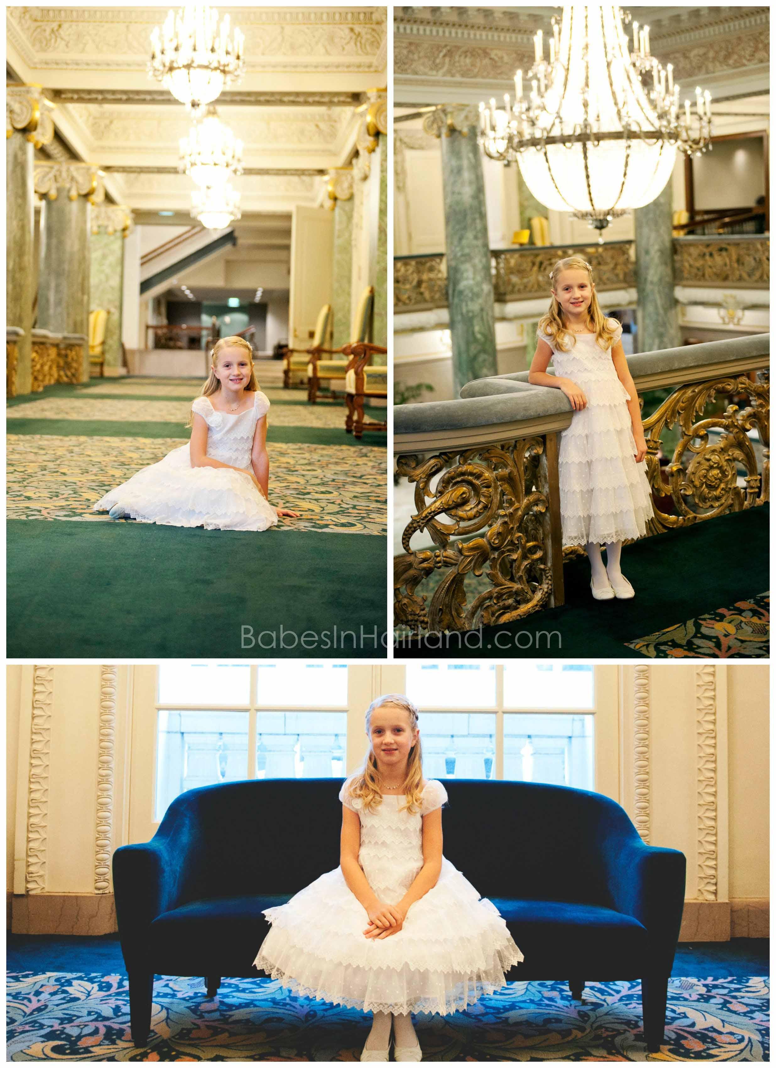 Baptism Dress from White Elegance - BabesInHairland.com #hair #frenchbraid #baptism #lds #mormon