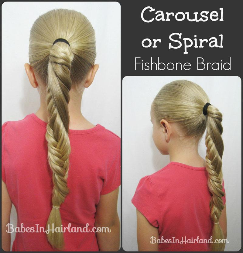 Remarkable Carousel Spiral Fishbone Braid Babes In Hairland Short Hairstyles Gunalazisus