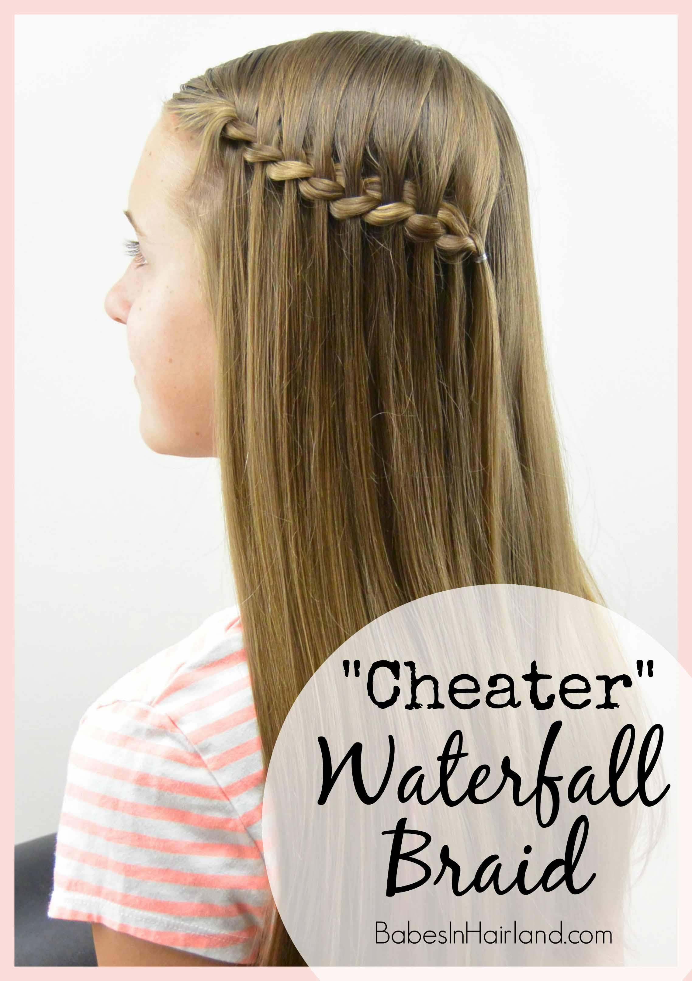 Cheater Waterfall Braid Babes In Hairland