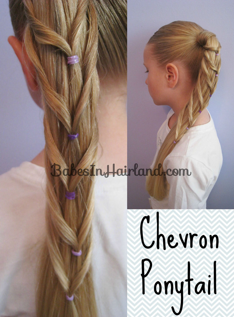 Chevron Ponytail from BabesInHairland.com (1)