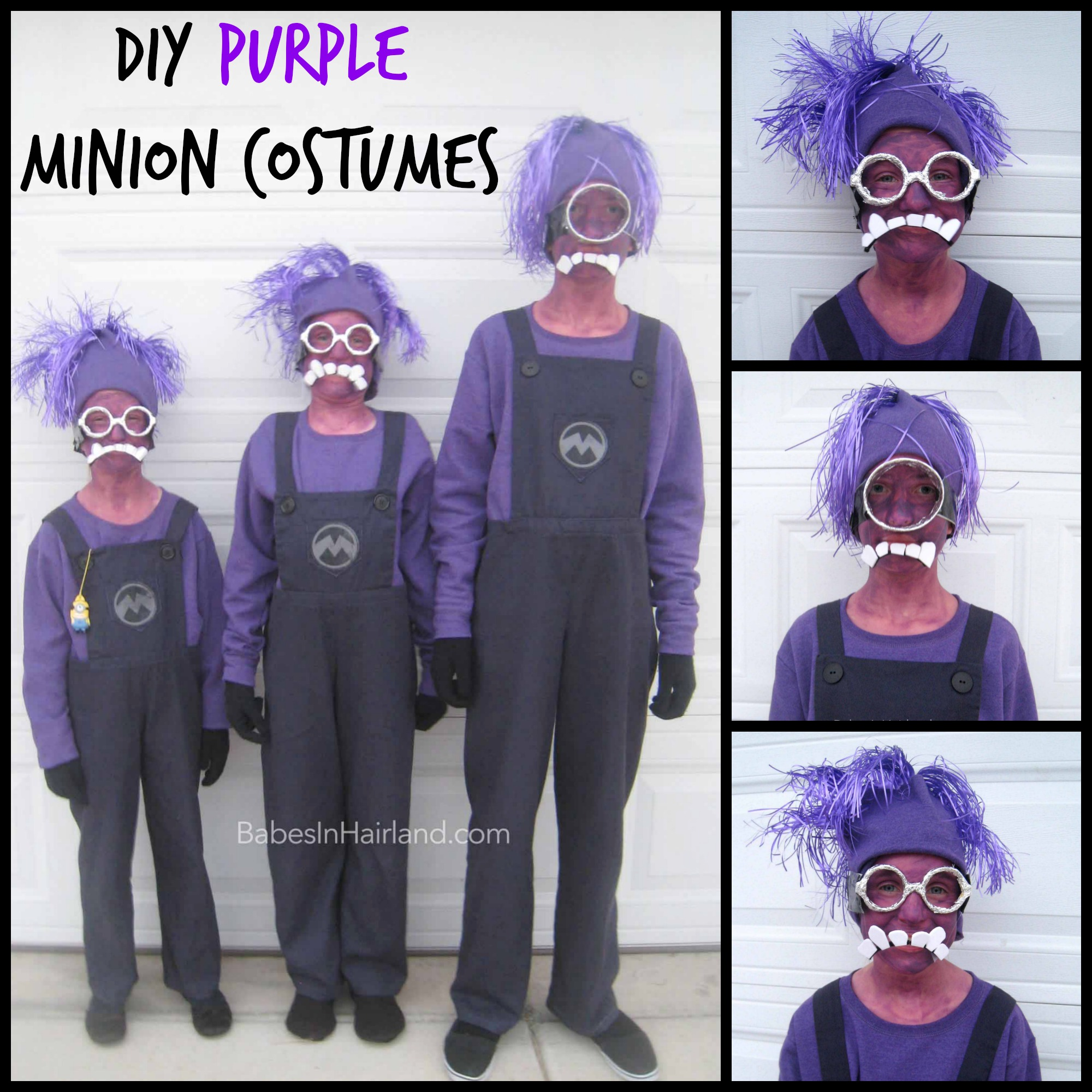 DIY Purple Minion Costumes from BabesInHairland.com