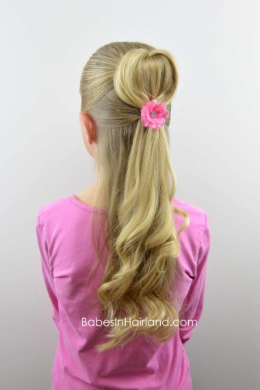 Half-Up 3D Heart Hairstyle from BabesInHairland.com #hair #heart #valentinesday #hairstyle