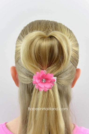 Half Up 3d Heart Hairstyle Valentine S Day Hairstyle