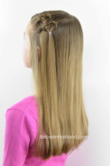 Knotted Hearts | Valentine's Day Hairstyle from BabesInHairland.com #heart #hairstyle #valentinesday #hair