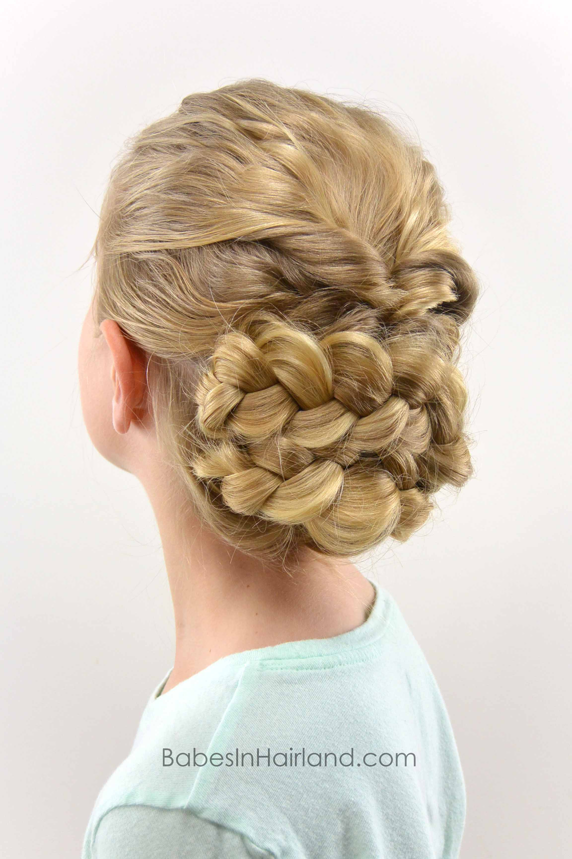 Easy Romantic Braided Updo Babes In Hairland