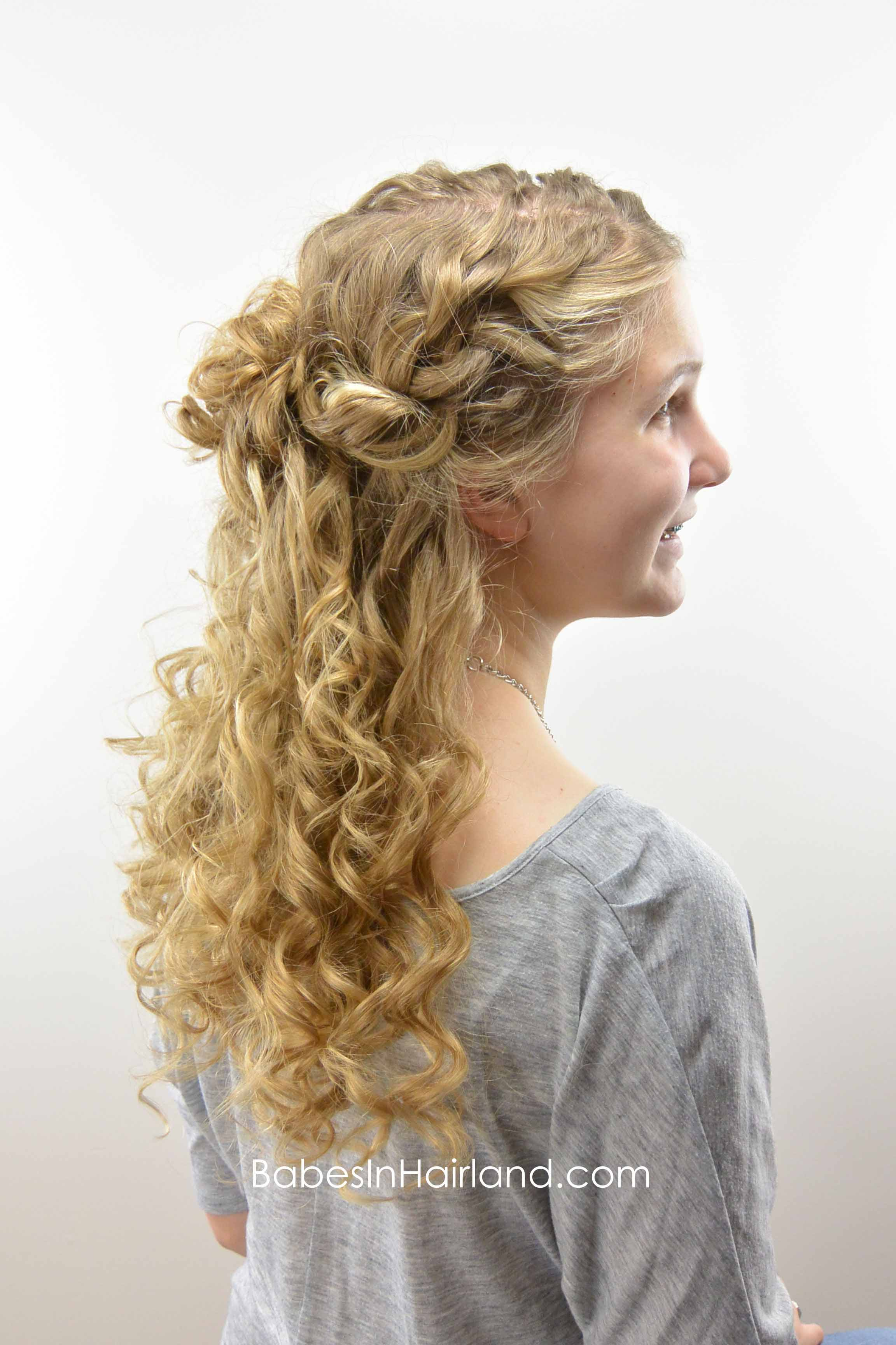 Half Up Style For Curly Hair Babes In Hairland