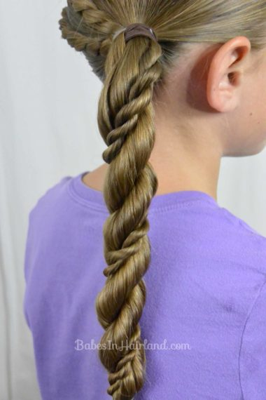 Rope Braids and Twisted Ponytail from BabesInHairland.com