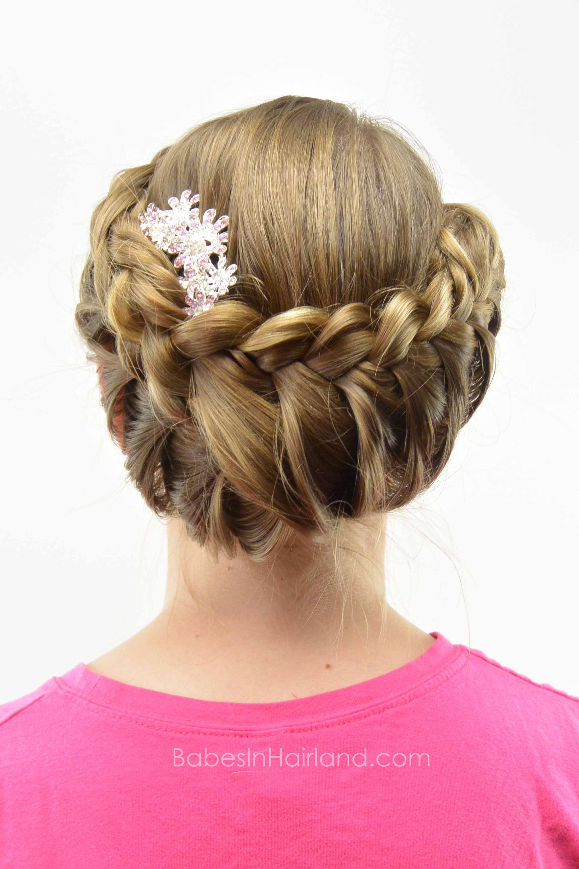 Lace Braid Updo Babes In Hairland