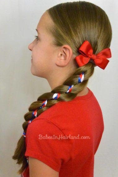 Ribbon Braid in a 4 Strand Braid from BabesInHairland.com