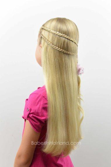 Micro Braid Pullback from BabesInHairland.com #microbraid #braids #hair #hairstyle