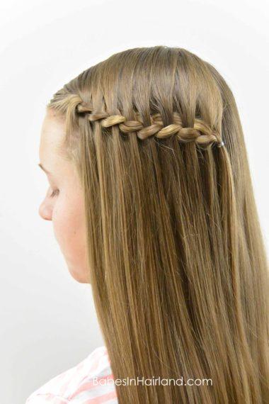 Cheater Waterfall Braid from BabesInHairland.com #waterfalllbraid #braid #hair #hairstyle