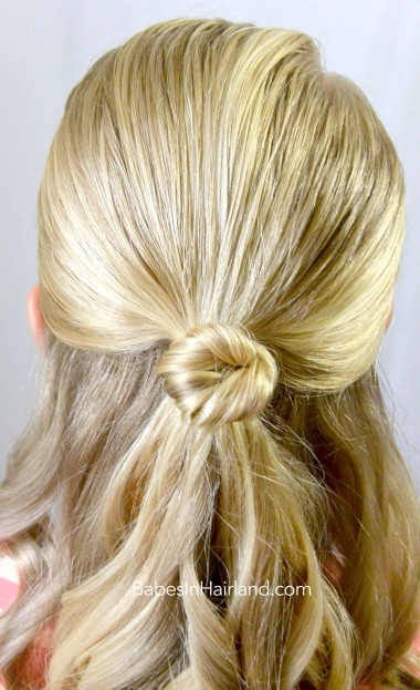 Knot Topped Ponytail from BabesInHairland.com