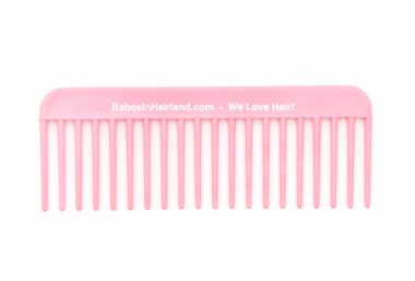 Pink BabesInHairland.com Wide Tooth Comb