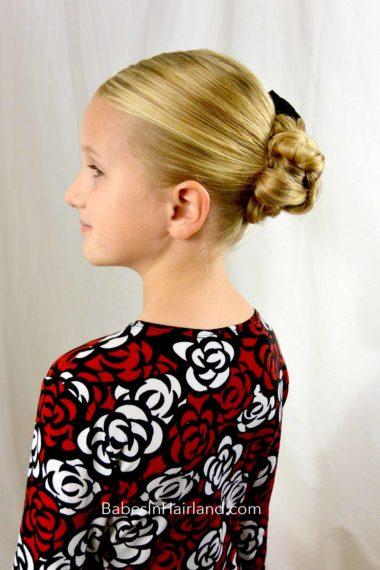 Braided Bun for Shorter Hair from BabesInHairland.com #bun #braids #shorthair #easyhairstyle