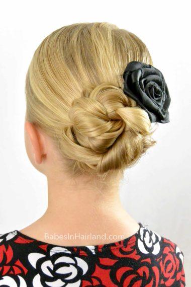 Easy Braided Bun For Shorter Or Fine Hair Babes In Hairland