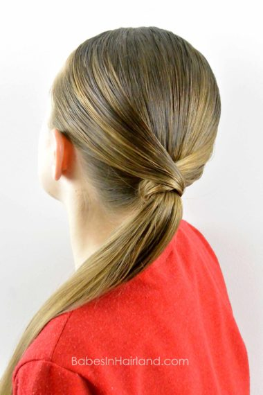 V Wrapped Ponytail from BabesInHairland.com #ponytail #hair #wrap #hairstyle