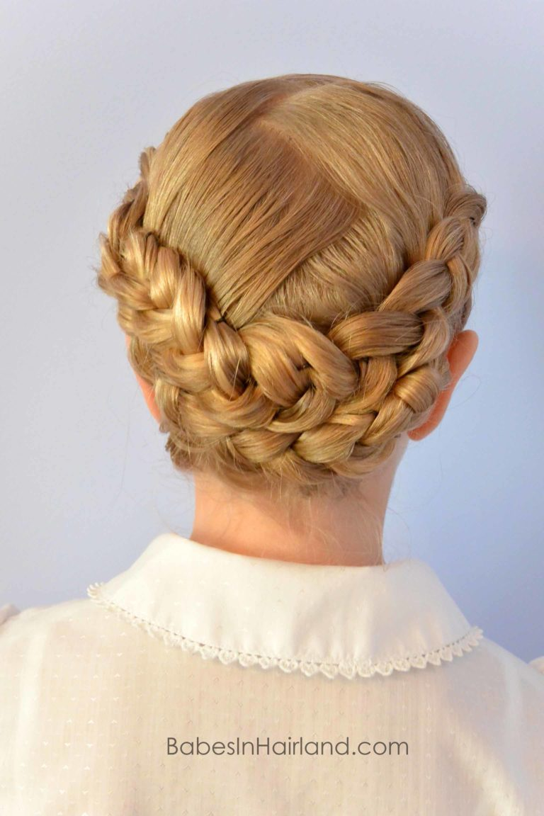 Dutch Braided Baptism Hairstyle From Babesinhairland Com