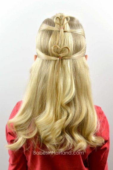 Double Floating Hearts   Valentine's Day Hairstyle from BabesInHairland.com #valentinesday #heart #hair #hairstyle