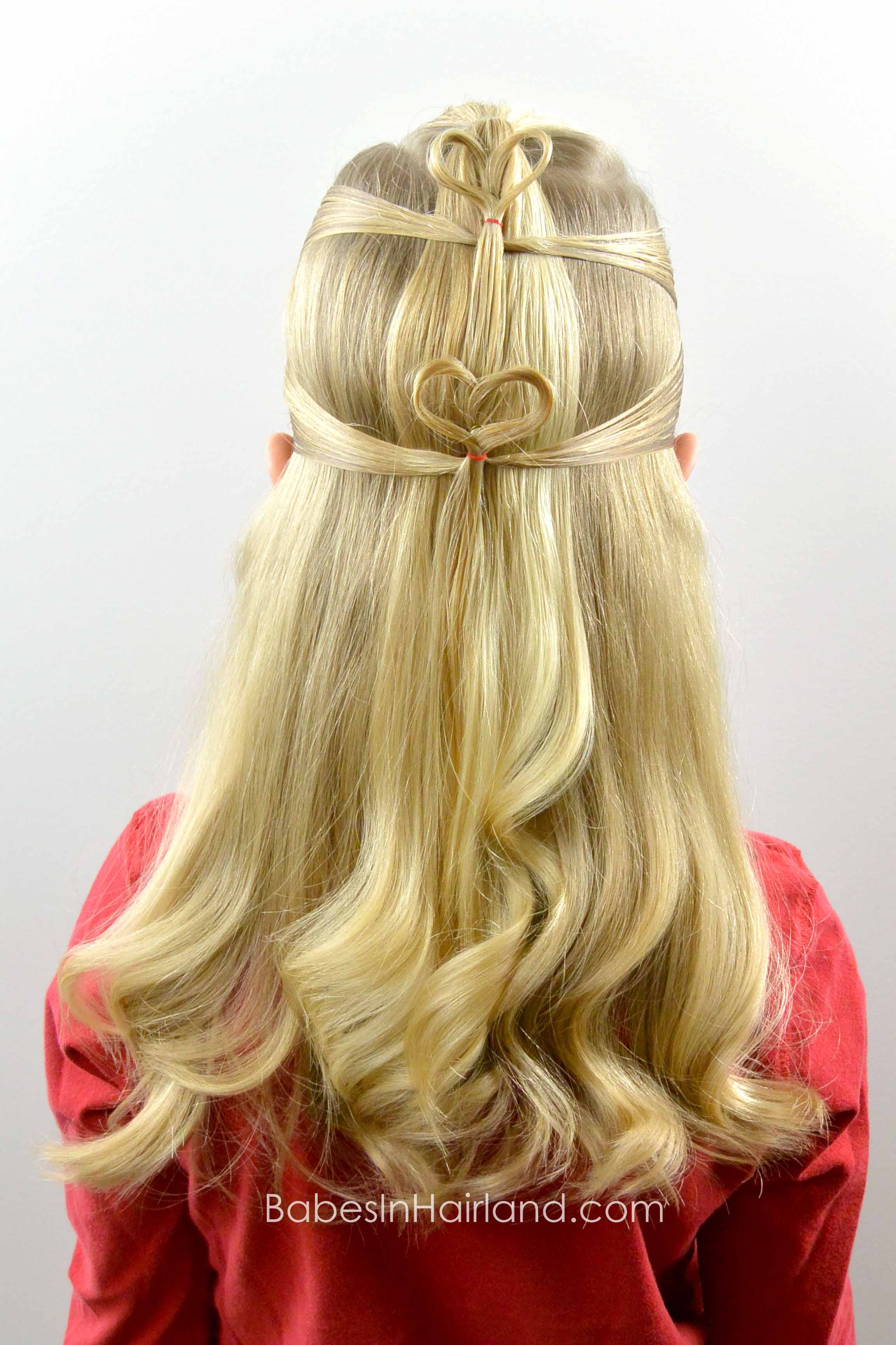 Double Floating Hearts Valentines Day Hairstyle Babes In Hairland