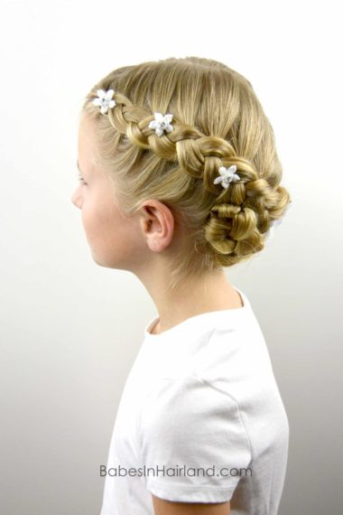 Dutch Braided Baptism Hairstyle from BabesInHairland.com #baptism #lds #mormon #braids #dutchbraids #hair