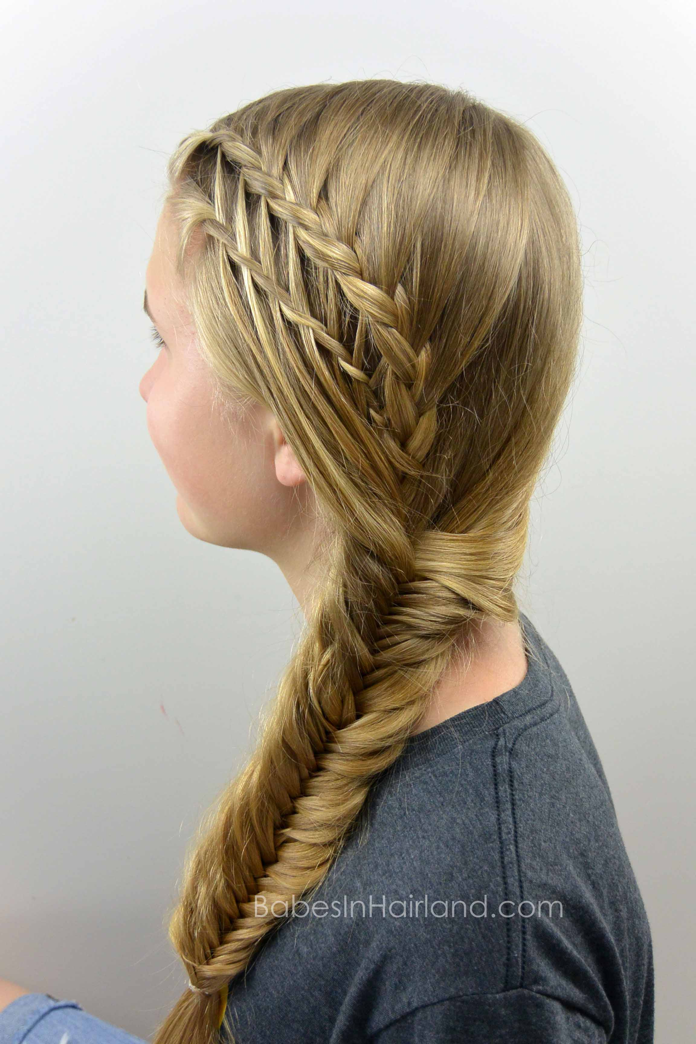 Feather Braided Fishtail Combo - Babes In Hairland