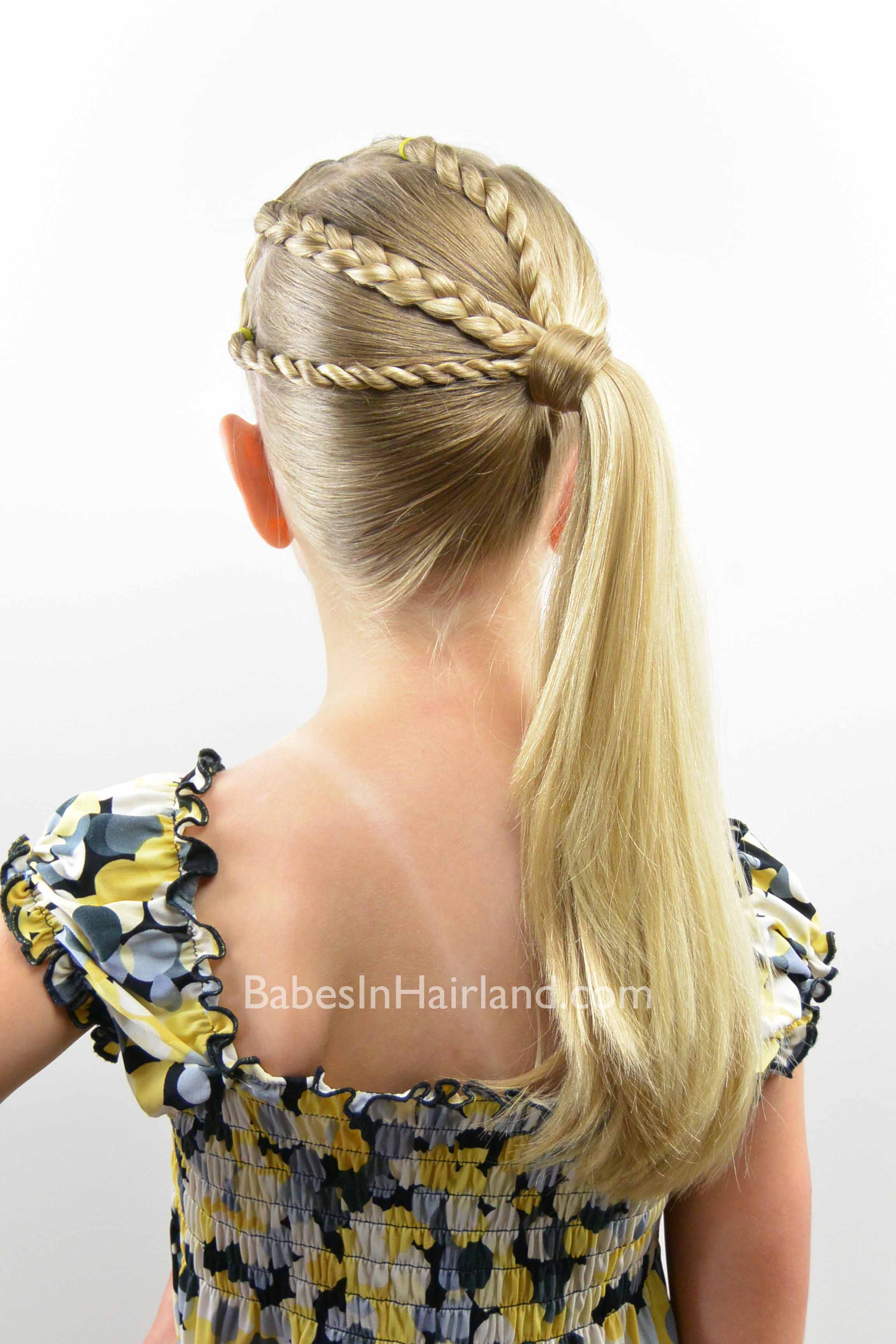 The Braid Twist Ponytail Combo Babes In Hairland