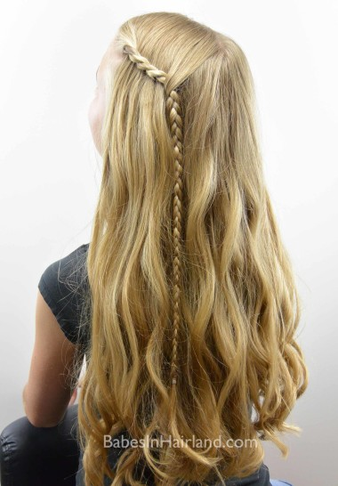 Quick & Easy Bang/Fringe Pullback from BabesInHairland.com #bangs #fringe #braid #twist #hair