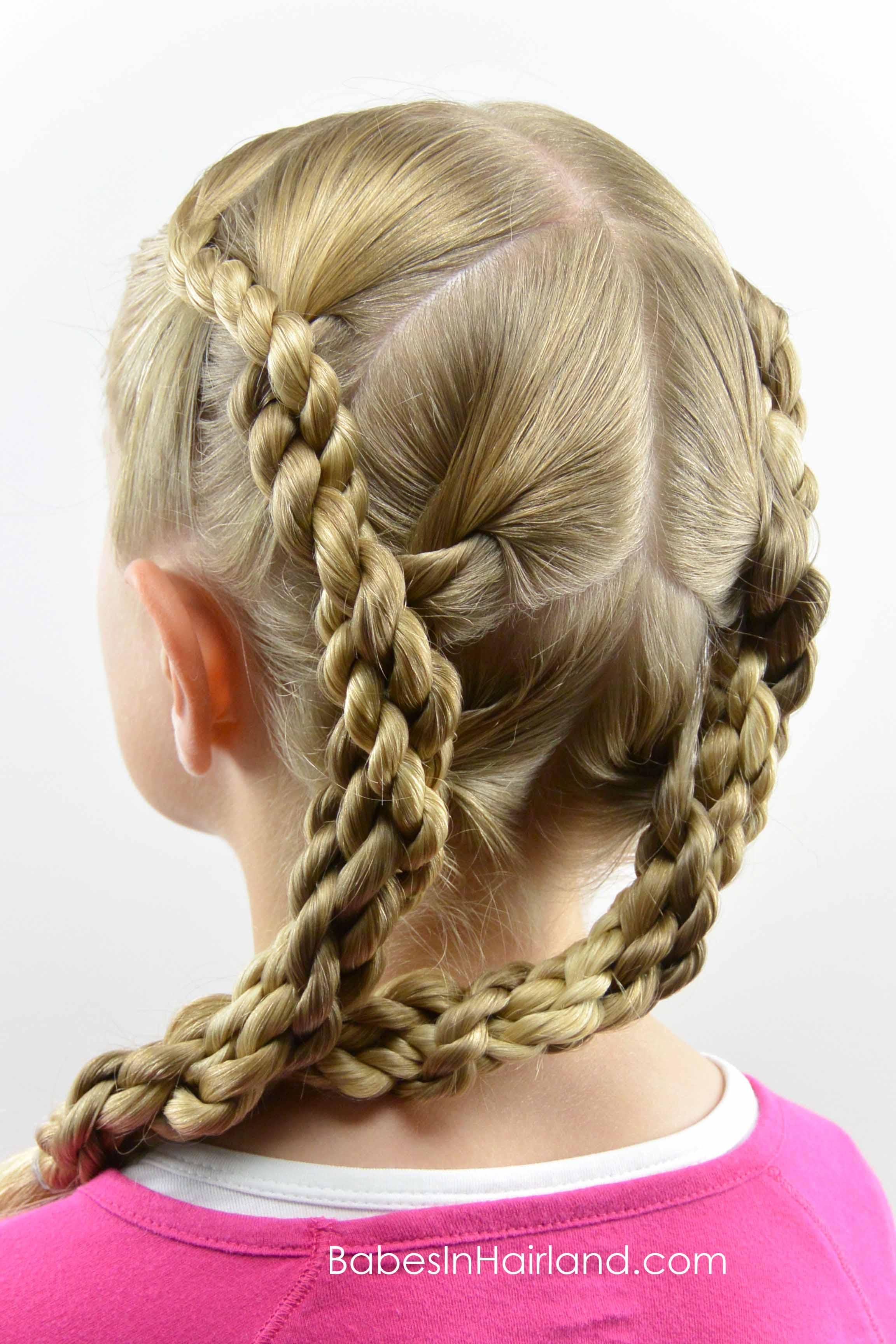 Quadruple Hawser Twist Hairstyle Babes In Hairland