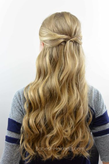 Simple Pullback Style & NuMe Wand Review | BabesInHairland.com #curls #hair #numestyle #hairstyle
