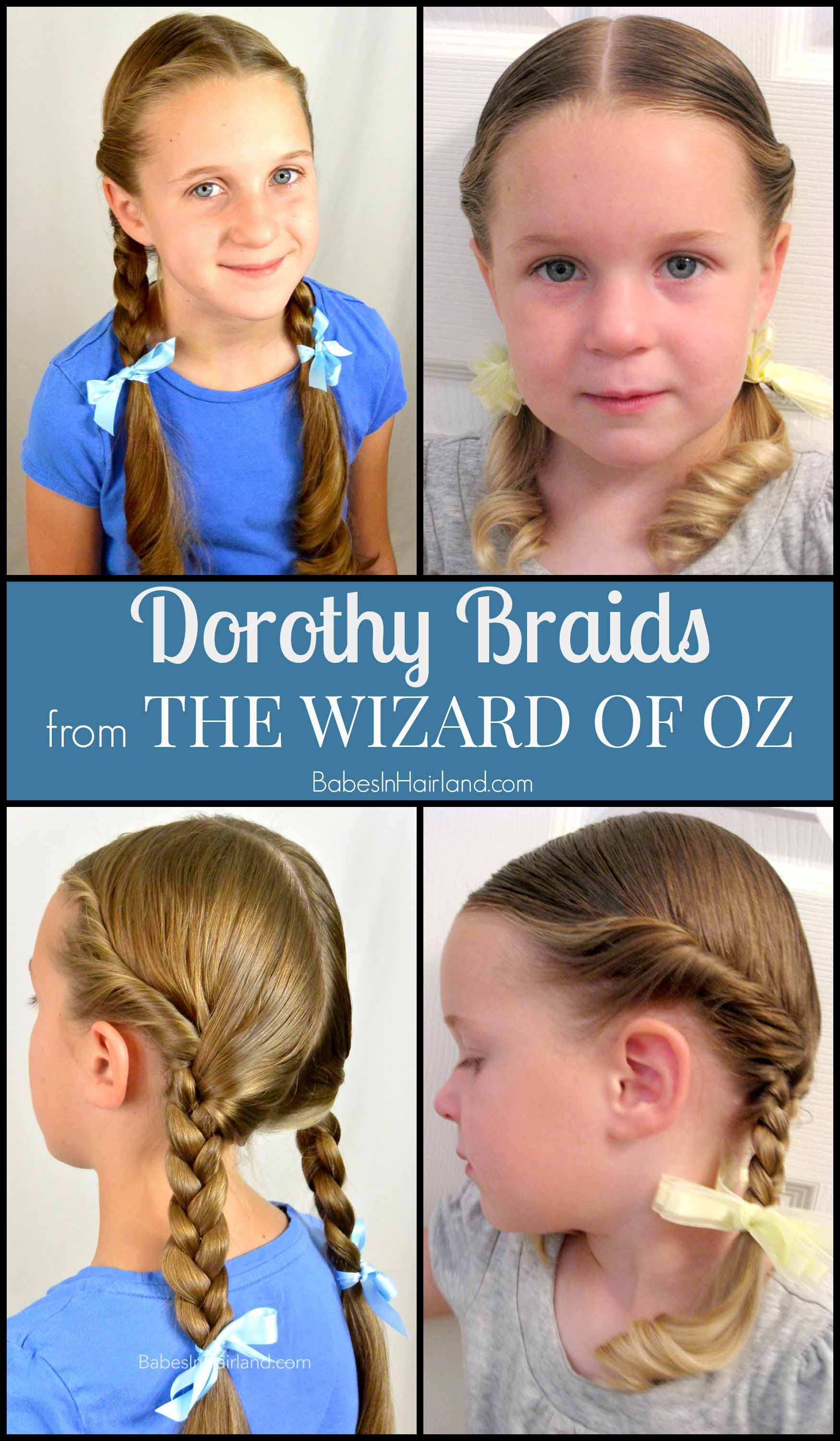 Awe Inspiring Dorothy Gale Braids Halloween Hairstyle Babes In Hairland Hairstyles For Men Maxibearus
