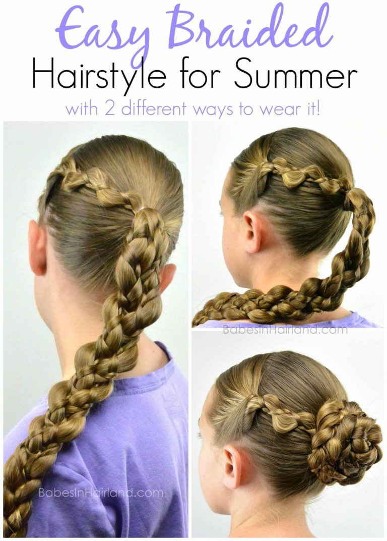 simple hair braiding styles easy braided style for summer from babesinhairland 3918