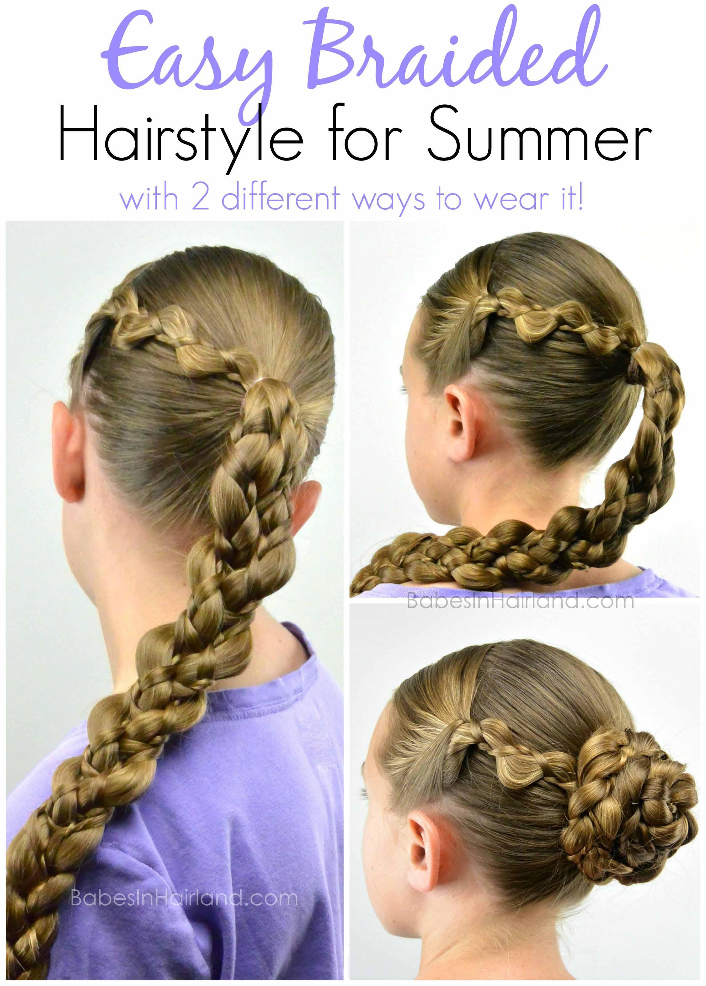 Swell Easy Braided Summer Hairstyle Babes In Hairland Short Hairstyles Gunalazisus