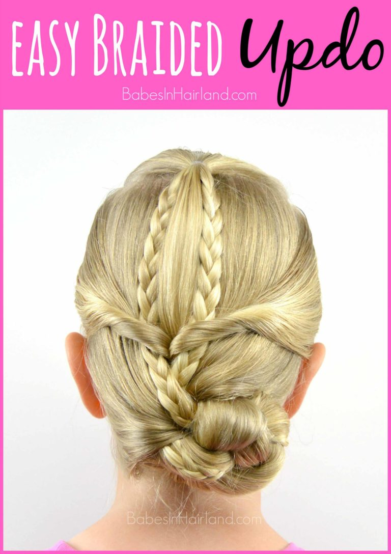 Easy Braided Updo From Babesinhairland Com Updo Braids