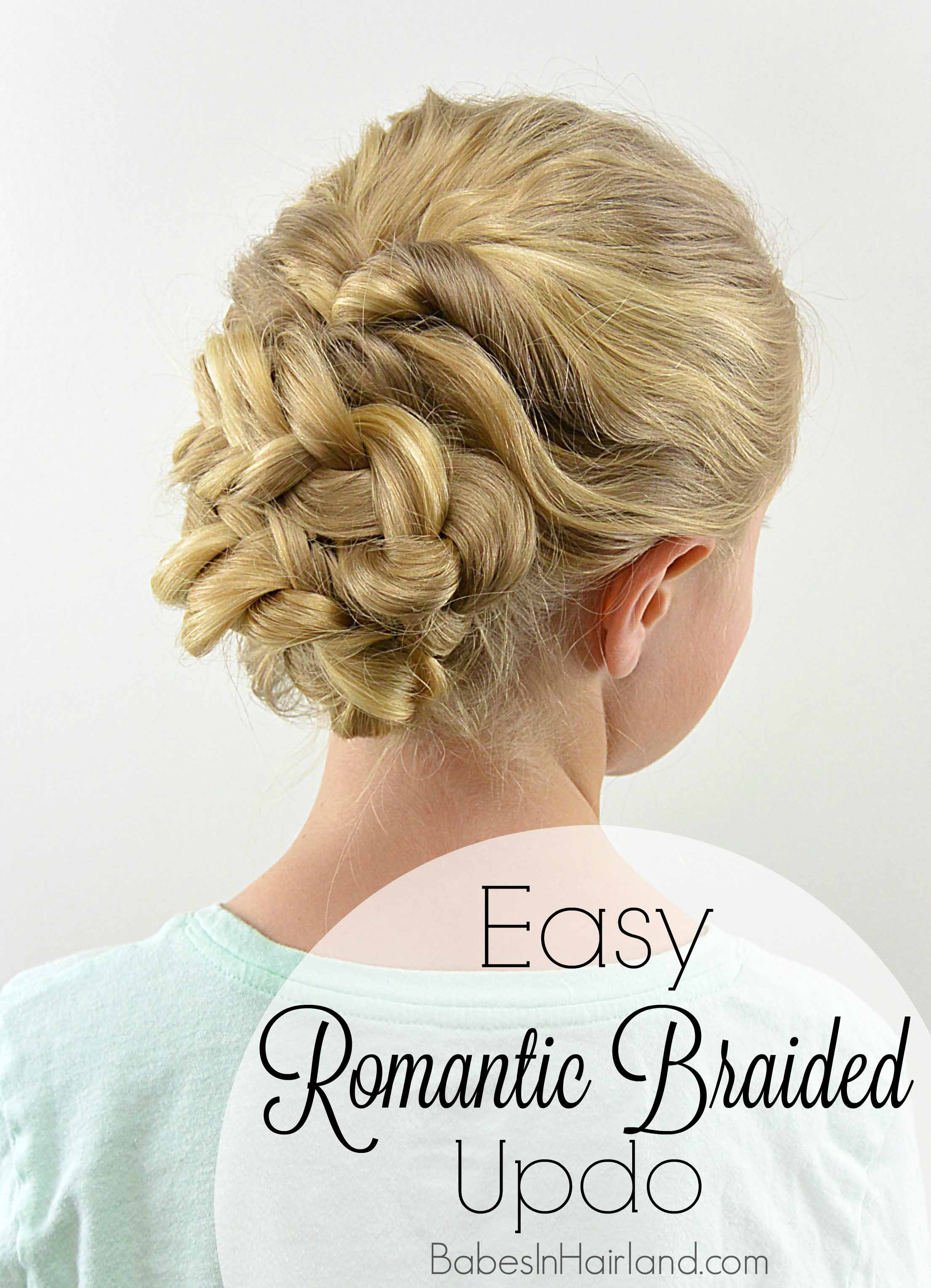 Easy Romantic Braided Updo , Babes In Hairland