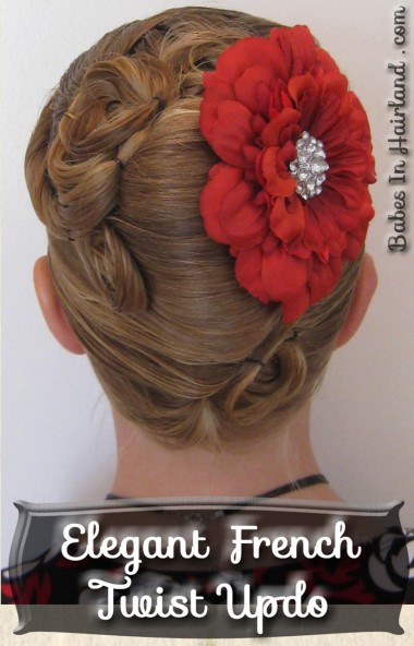 Elegant French Twist Updo (1)