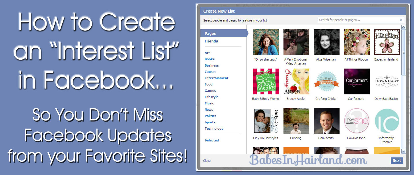 How to Create a Facebook Interests List