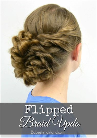 Flipped Braid Updo from BabesInHairland.com | updo | bridal | wedding | hairstyle | hair |