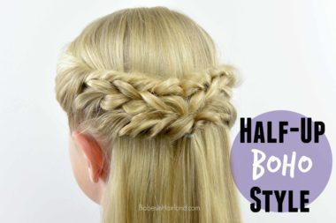 Half-Up Boho Style from BabesInHairland.com #boho #hair #boho-chic #hairstyle #braids