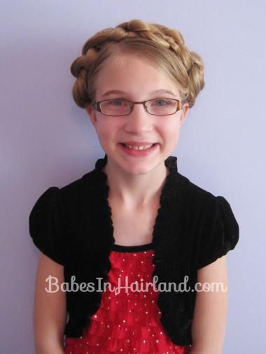 Chunky Knot Milkmaid Braids - BabesInHairland.com (12)