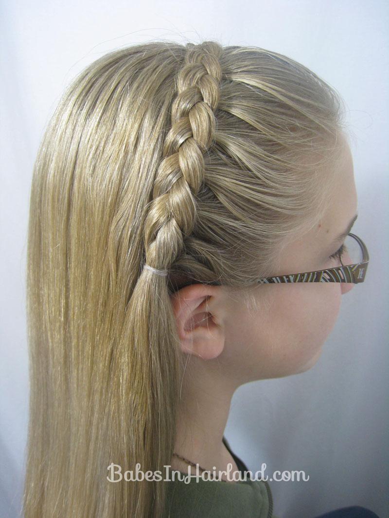 Braided headband with ponytail