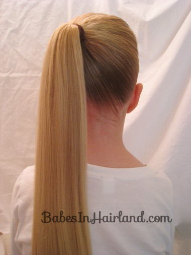 Chevron Ponytail from BabesInHairland.com