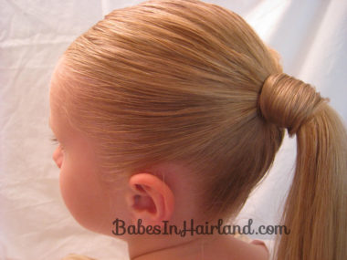 Chevron Ponytail from BabesInHairland.com (2)