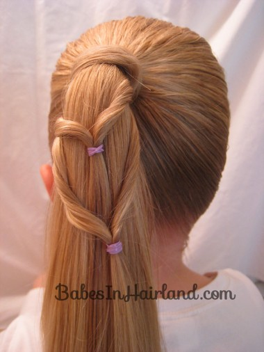 Chevron Ponytail from BabesInHairland.com (7)