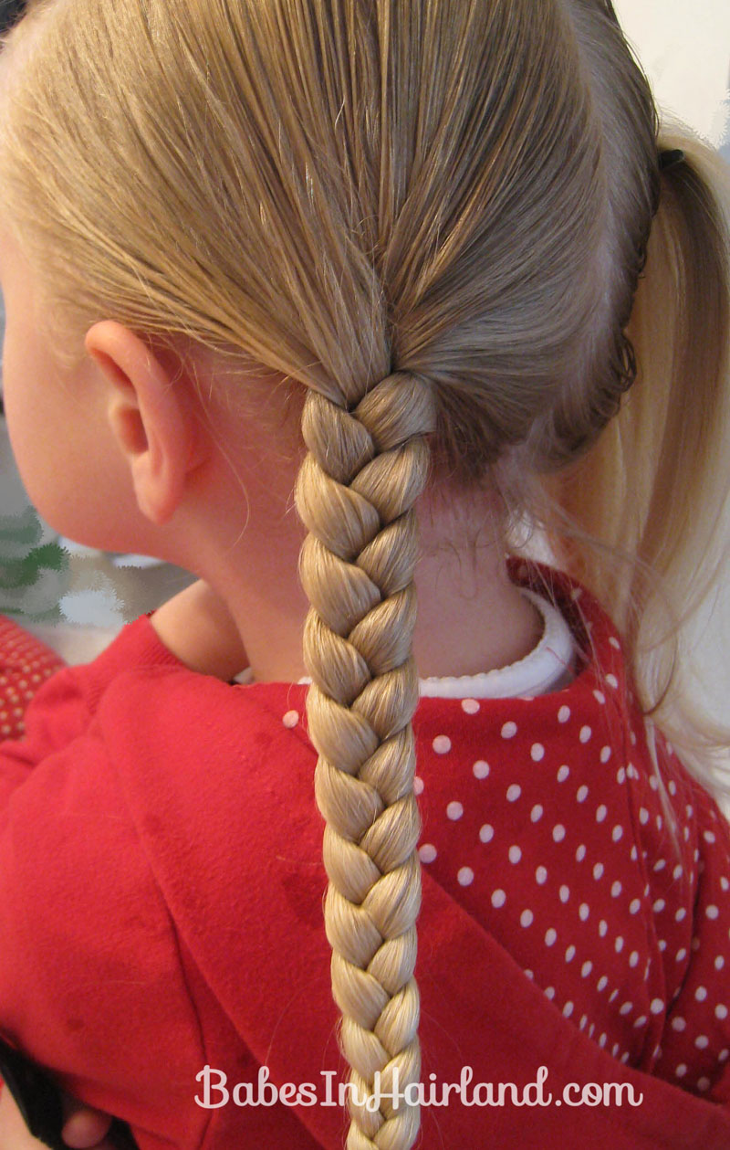 Ribbon Braids Woven Through A Beanie Babes In Hairland