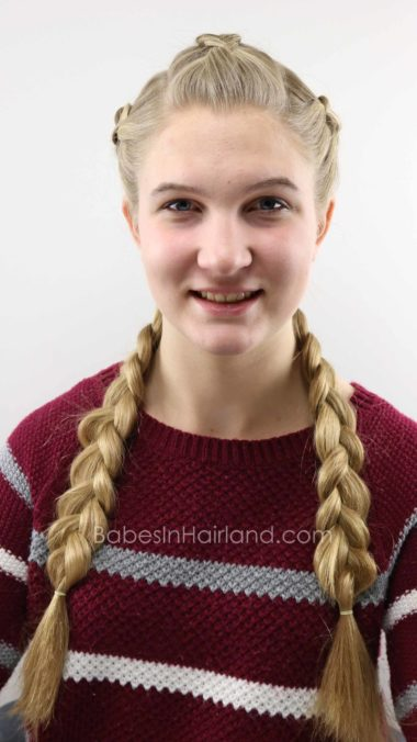 Love Dutch Braids? Mix things up a little with this beautiful Triple Double Dutch Braids hairstyle from BabesInHairland.com #hair #hairstyle #braids #dutchbraids #frenchbraids #diy #beauty