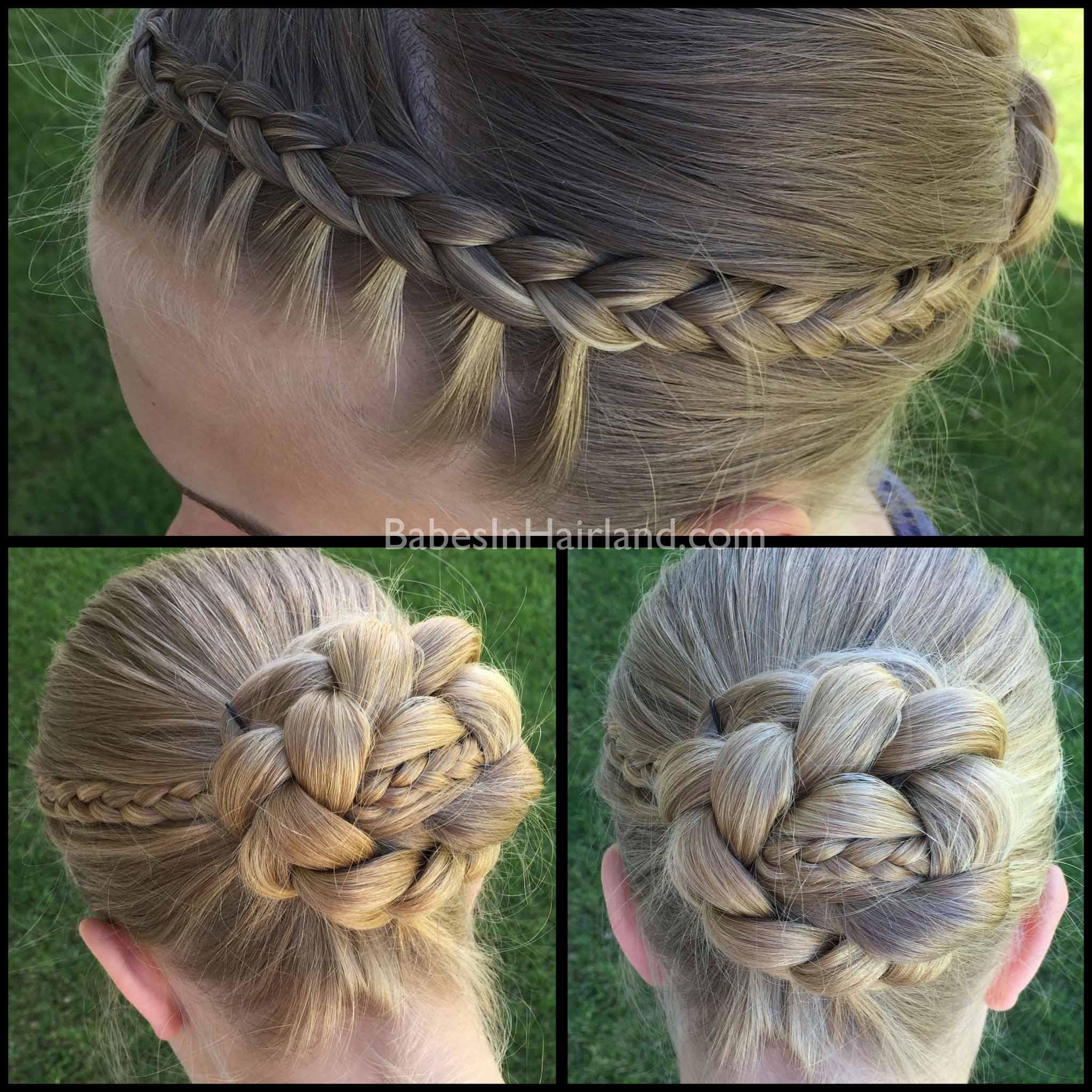 Micro braids ponytail
